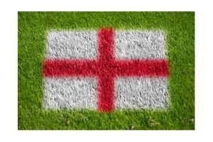 Flag of England on Grass by raphtong