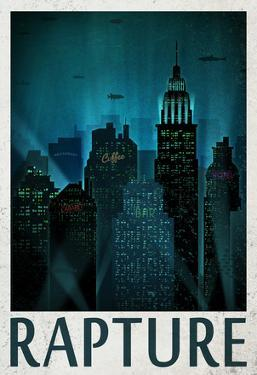 Rapture Retro Travel Poster