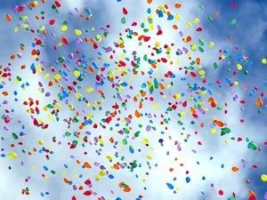 Balloons in Sky by raquel santana