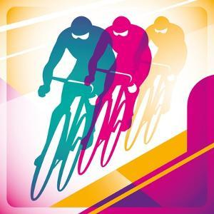 Illustrated Bicycle Driving In Color by Rashomon