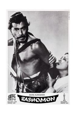 Rashomon, Swiss Poster Art, from Left: Toshiro Mifune, Machiko Kyo, 1950