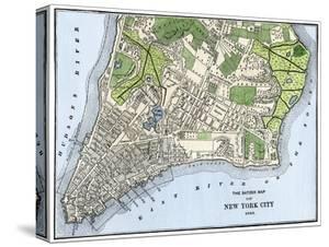Ratzer Map of New York City, 1767