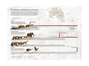 Megafauna Extinction on Australia, North and South America and New Zealand by Raul Martin Domingo