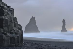 Basalt Columns at Reynisfjara Beach Near Vik by Raul Touzon