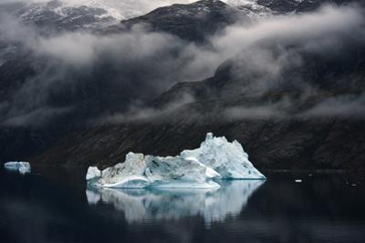 Icebergs Floating in Scoresby Sound, Greenland