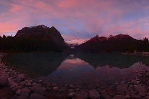 Lake Louise at Dawn in Alberta, Canada by Raul Touzon
