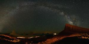 Milky Way Above Monument Valley by Raul Touzon