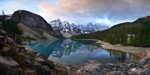 Moraine Lake During Early Morning by Raul Touzon