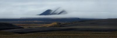 Panorama Image of Mountains in the Myrdalur Region by Raul Touzon