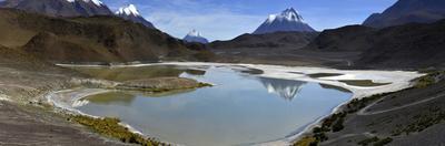Panorama of lake Laguna Hedionda in Bolivia. by Raul Touzon