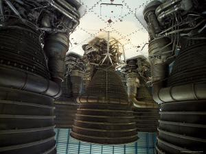 Saturn V Rocket Main Engines by Raul Touzon