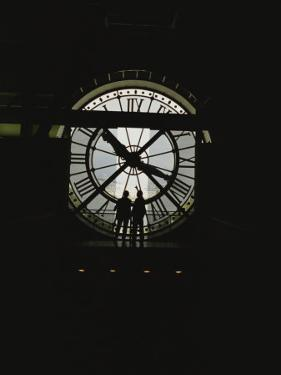 Silhouette of the Clock in the Central Gallery of the Musee Dorsay by Raul Touzon