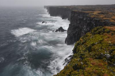 Stormy Ocean Crashing on to Saxholsbjarg Cliff by Raul Touzon