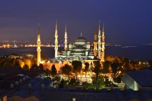 The Blue Mosque, at Dusk by Raul Touzon