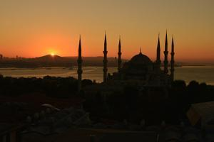 The Blue Mosque, at Sunrise by Raul Touzon