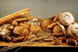 Assorted Baked Goods and Cereal Ears (Free-Standing) by Rauzier-Riviere