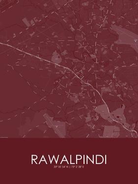 Rawalpindi, Pakistan Red Map