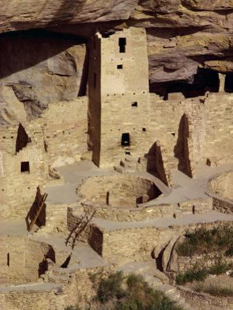 Cliff Palace Dating from Between 1200 and 1300 Ad at Mesa Verde, Colorado, USA by Rawlings Walter