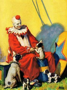 """""""Circus Clown and Show Dogs,""""April 1, 1929 by Ray C. Strang"""