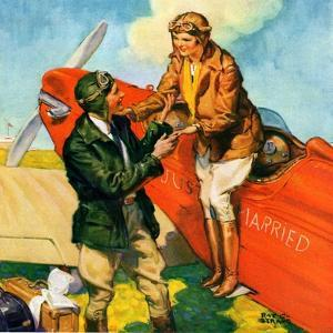 """""""Just Married, Just Landed,""""July 1, 1929 by Ray C. Strang"""
