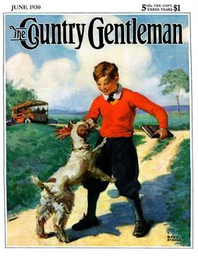"""""""School's Out,"""" Country Gentleman Cover, June 1, 1930 by Ray C. Strang"""