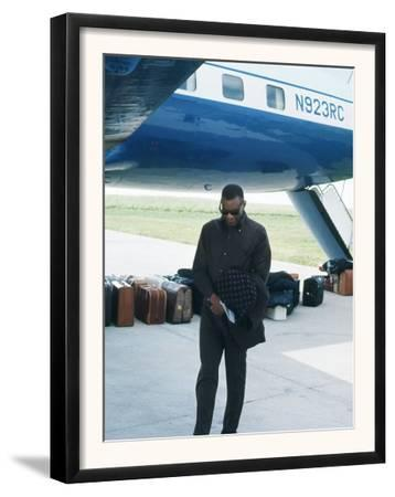 Ray Charles Beside His Private Jet