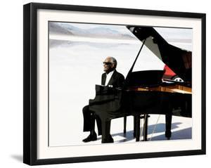 Ray Charles Filming a Peugeot Commercial, 1994