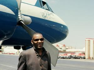 Ray Charles Outside His Private Jet