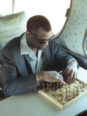 Ray Charles Playing Chess on the Tour Bus