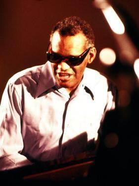Ray Charles Playing Piano