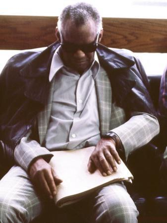Ray Charles Reading Braille