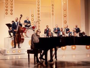 Ray Charles Recording Hollywood Palace Television Show, 1966