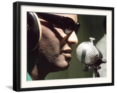 Ray Charles Taping a Coca-Cola Radio Commercial, 1967