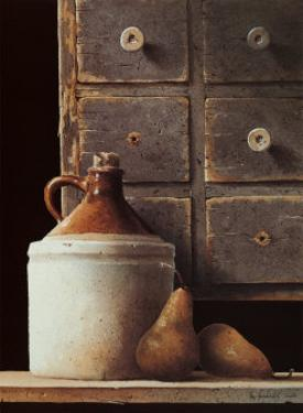 Spice Chest and Pears by Ray Hendershot