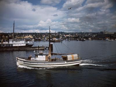 Halibut Fishing Vessel Alma in Salmon Bay by Ray Krantz
