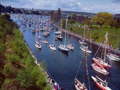 Sailboats in Opening Day Yacht Parade by Ray Krantz