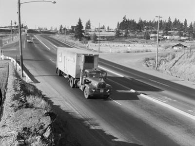 Truck Transporting Delivery to Safeway by Ray Krantz