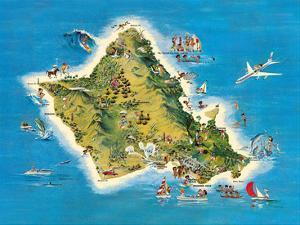 The Island of Oahu Hawaii by Ray Lanterman