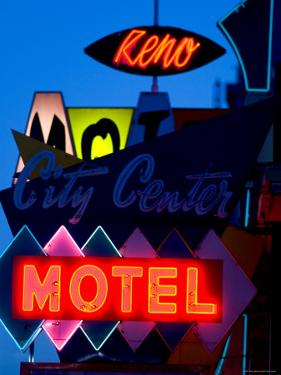 City Center Motel Sign at Dusk, Reno, Nevada by Ray Laskowitz