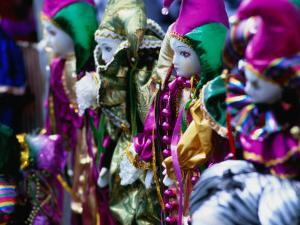 Dolls Decorated for Mardi Gras Carnival, New Orleans, Louisiana, USA by Ray Laskowitz
