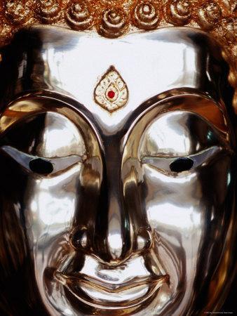 Gilded Buddha Face, Bangkok, Thailand