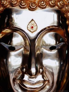 Gilded Buddha Face, Bangkok, Thailand by Ray Laskowitz