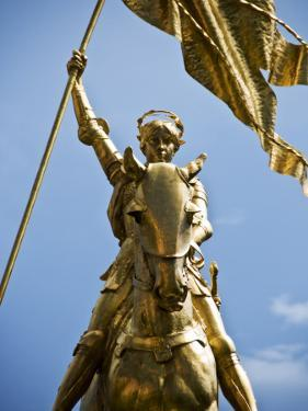 Gold Plated Statue of St. Joan of Arc in the French Quarter on Decator Street by Ray Laskowitz