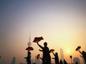 Morning Tai Chi Exercise in the Bund, Shanghai, China by Ray Laskowitz