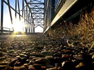 Old Route 66 Metal Bridge over Rio Peurco, 20 Miles West of Albuquerque by Ray Laskowitz