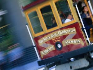 Passengers on a Trolley Car, San Francisco, California, USA by Ray Laskowitz
