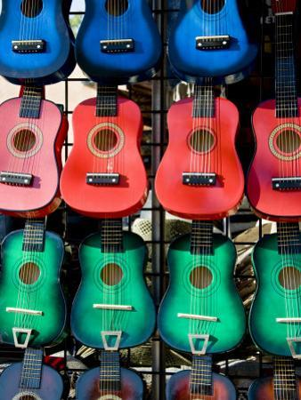 Toy Guitars for Sale at New Mexico State Fair by Ray Laskowitz