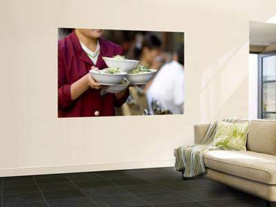 Waitress Carrying Soup in Wangfujing Xianchi Jie, Small Hutong by Ray Laskowitz