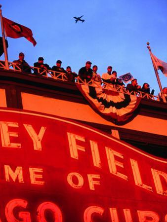 Wrigley Field Baseball Crowd During the Playoffs, Chicago, Illinois by Ray Laskowitz