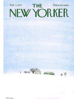 The New Yorker Cover - February 3, 1973 by Raymond Davidson